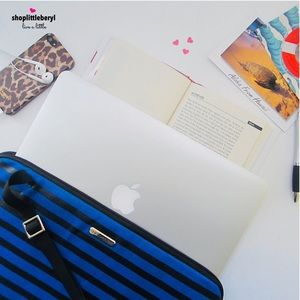 """Rebecca Minkoff Striped 15"""" Laptop Case Bag"""